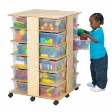 Jonti-Craft® 24 Tub Tower - with Clear Tubs