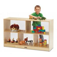 Jonti-Craft® Low Single Mobile Storage Unit - See-Thru Back
