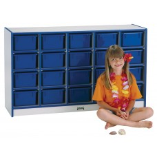 Rainbow Accents® 20 Cubbie-Tray Mobile Storage - without Trays - Black