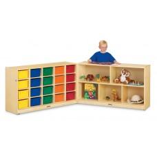 Jonti-Craft® 20 Cubbie-Tray Fold-n-Lock - with Colored Trays