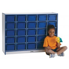Rainbow Accents® 25 Cubbie-Tray Mobile Storage - without Trays - Black