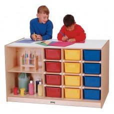 Jonti-Craft® Mobile Storage Island - with Colored Trays
