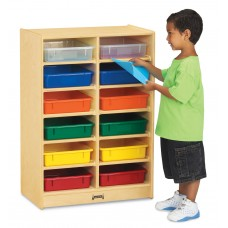 Jonti-Craft® 12 Paper-Tray Mobile Storage - with Colored Paper-Trays