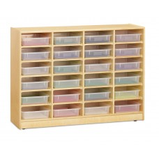 Jonti-Craft® 24 Paper-Tray Mobile Storage - with Clear Paper-Trays