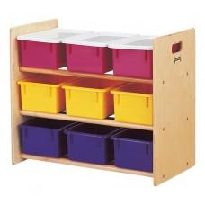 Jonti-Craft® Cubbie-Tray Storage Rack - with Colored Cubbie-Trays
