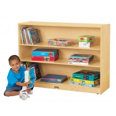 Jonti-Craft® Super-Sized Adjustable Mobile Straight-Shelf