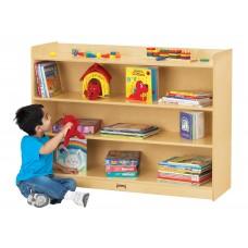 Jonti-Craft® Adjustable Mobile Straight-Shelf with Lip - ThriftyKYDZ®