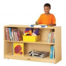 Jonti-Craft® Low Adjustable Mobile Straight-Shelf