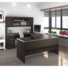 Ridgeley U-shaped Desk in Dark Chocolate