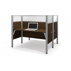 Pro-Biz Double face to face workstation in Chocolate