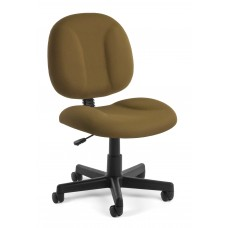 OFM Comfort Series Superchair Armless Fabric Task Chair, Taupe