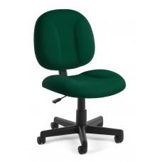 OFM Comfort Series Superchair Armless Fabric Task Chair, Green