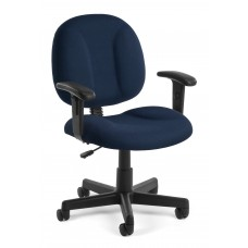 OFM Comfort Series Superchair Fabric Task Chair with Arms, Navy