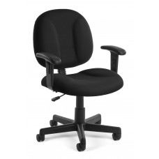 OFM Comfort Series Superchair Fabric Task Chair with Arms, Black