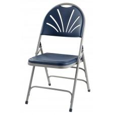 Dark Blue Polyfold Fan Back Triple Brace Double Hinge Folding Chair Carton Of 4