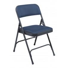 Dark Midnight Blue Vinyl Upholstered Premium Folding Chairs Carton of 4