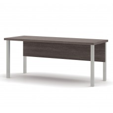 Pro-Linea Table with metal legs in Bark Gray