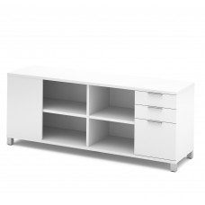 Pro-Linea Credenza with three drawers in White
