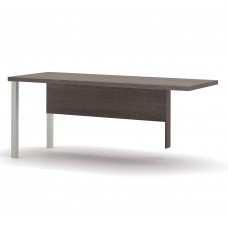 Pro-Linea Return table with metal legs in Bark Gray