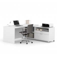 Pro-Linea L-Desk in White