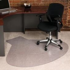 60x66 Workstation Med Pile Carpet Straight Edge
