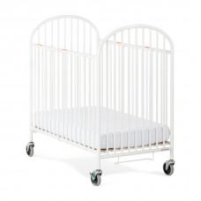 "Compact Pinnacle™ EasyRoll™ Folding Crib w/ 4"" Casters (Foam Mattress) - White - 4 inch"