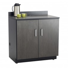 Hospitality Base Cabinet, Two Door - Black (cabinet);Asian Night (counter top & doors)