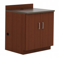 Hospitality Base Cabinet, Two Door - Rustic Slate (counter top);Mahogany(cabinet)