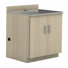 Hospitality Base Cabinet, Two Door - Vanilla Stix(cabinet);Grey (counter top)