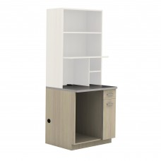 Hospitality Appliance Base Cabinet - Vanilla Stix (cabinet);Grey (counter top)