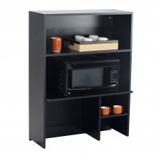 Hospitality Appliance Hutch - Black (Cabinet);Asian Night (top & doors)