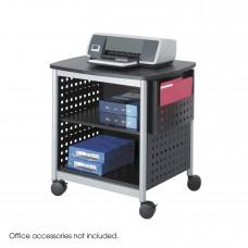 Scoot™ Deskside Printer Stand - Black/Silver