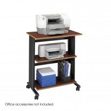 Muv™ Three Level Adjustable Printer Stand - Cherry/Black