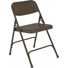 Brown Premium All-Steel Folding Chairs Carton of 4
