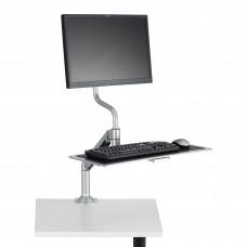 Desktop Sit/Stand Workstation - Silver