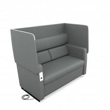 Morph Series Soft Seating Sofa, Slate Gray