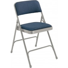 Imperial Blue Fabric Upholstered Premium Folding Chairs Carton of 4