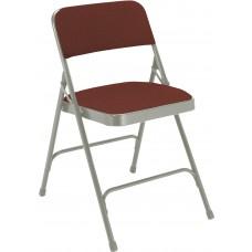 Majestic Cabernet Fabric Upholstered Premium Folding Chairs Carton of 4