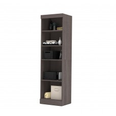 "Pur by Bestar 25"" Storage unit in Bark Gray"