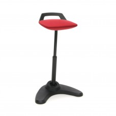 Vivo Height Adjustable Perch Stool, Black/Red