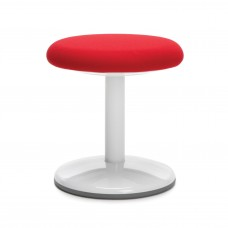 "Orbit Series Static Stool 14"" High - Fabric, Red"