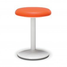 "Orbit Series Static Stool 18"" High - Vinyl, Orange"