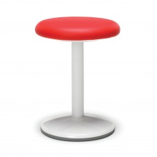"Orbit Series Static Stool 18"" High - Vinyl, Red"