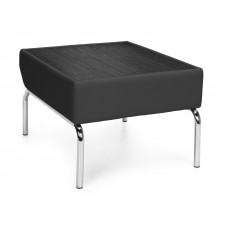 Triumph Series Laminate Top Table with Vinyl Border and Chrome Frame, Black/Tungsten