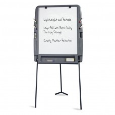 Portable Flipchart Easel, Dry Erase Surface - Charcoal