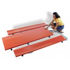 """30""""X 72"""" Deluxe Folding Piknik Table (Brite Red)"""
