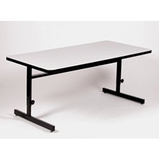 "Adjustable Height 1 1/4"" High Pressure Top Computer/Training Tables  - 24x72"" - Red"