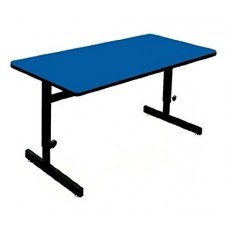 "Adjustable Height 1 1/4"" High Pressure Top Computer/Training Tables  - 30x48"" - Blue"