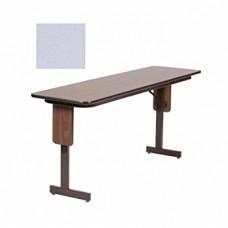 "3/4"" High Pressure Folding Seminar Table with Panel Leg - 18x72"" - Dove Gray"