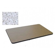 Bar & Cafe Table Parts-TOP ONLY - 30x48 - Grey Granite